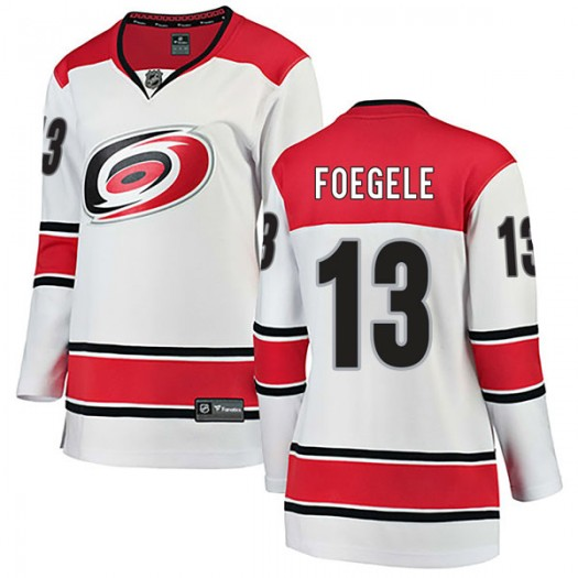 Warren Foegele Carolina Hurricanes Women's Fanatics Branded White Breakaway Away Jersey