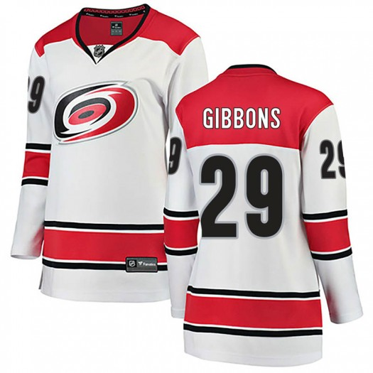 Brian Gibbons Carolina Hurricanes Women's Fanatics Branded White Breakaway Away Jersey