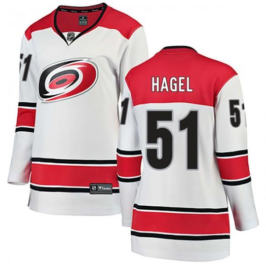 Kyle Hagel Carolina Hurricanes Women's Fanatics Branded White Breakaway Away Jersey