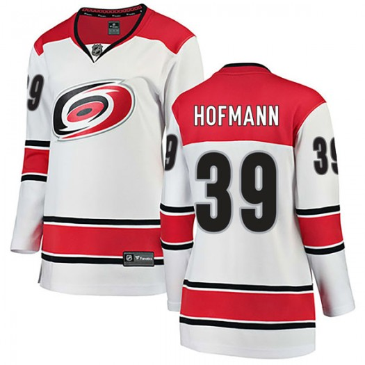 Gregory Hofmann Carolina Hurricanes Women's Fanatics Branded White Breakaway Away Jersey