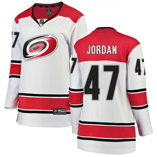 Michal Jordan Carolina Hurricanes Women's Fanatics Branded White Breakaway Away Jersey