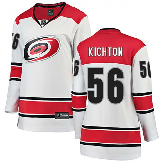 Brenden Kichton Carolina Hurricanes Women's Fanatics Branded White Breakaway Away Jersey