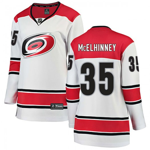 Curtis McElhinney Carolina Hurricanes Women's Fanatics Branded White Breakaway Away Jersey