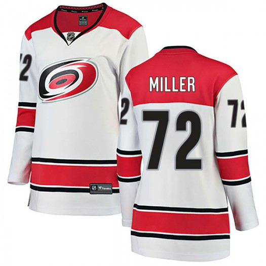 Andrew Miller Carolina Hurricanes Women's Fanatics Branded White Breakaway Away Jersey