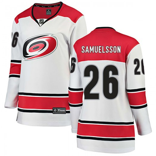 Philip Samuelsson Carolina Hurricanes Women's Fanatics Branded White Breakaway Away Jersey