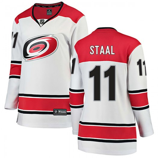 Jordan Staal Carolina Hurricanes Women's Fanatics Branded White Breakaway Away Jersey