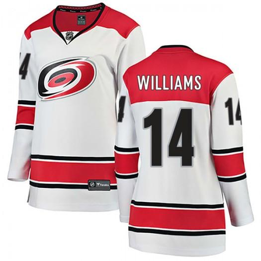 Justin Williams Carolina Hurricanes Women's Fanatics Branded White Breakaway Away Jersey