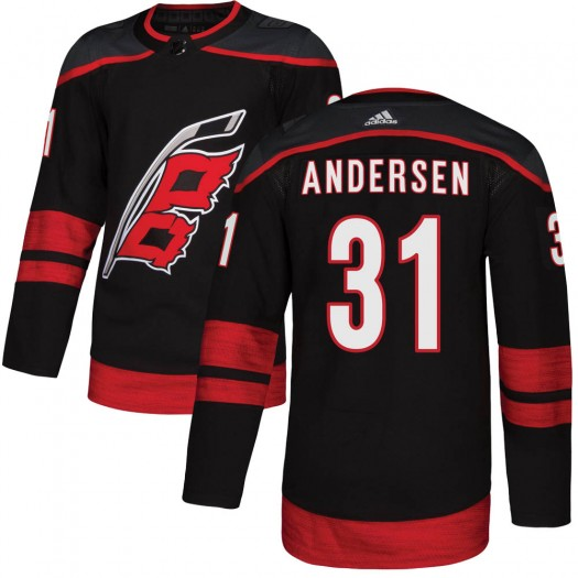 Frederik Andersen Carolina Hurricanes Youth Adidas Authentic Black Alternate Jersey