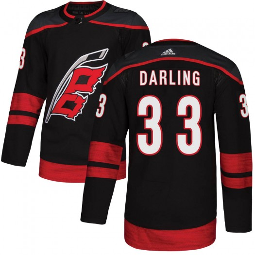 Scott Darling Carolina Hurricanes Youth Adidas Authentic Black Alternate Jersey