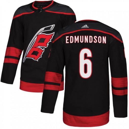 Joel Edmundson Carolina Hurricanes Youth Adidas Authentic Black Alternate Jersey