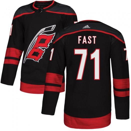 Jesper Fast Carolina Hurricanes Youth Adidas Authentic Black Alternate Jersey