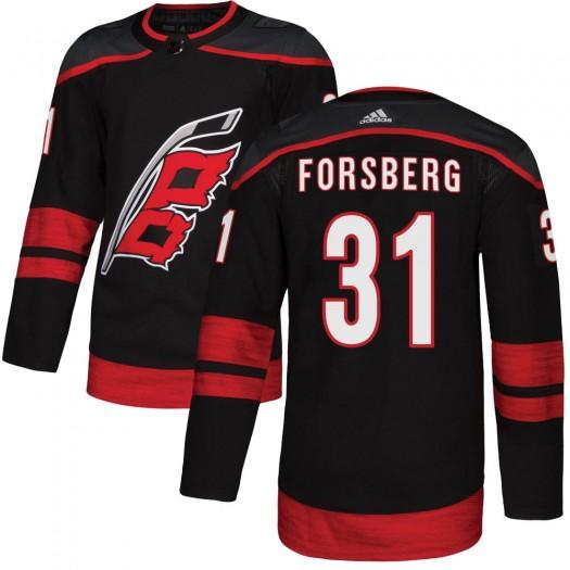Anton Forsberg Carolina Hurricanes Youth Adidas Authentic Black ized Alternate Jersey