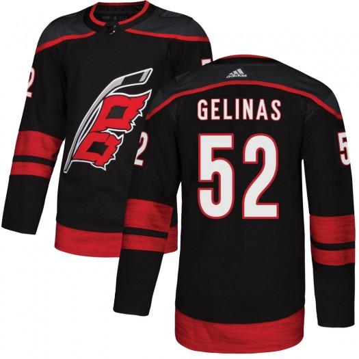 Eric Gelinas Carolina Hurricanes Youth Adidas Authentic Black Alternate Jersey