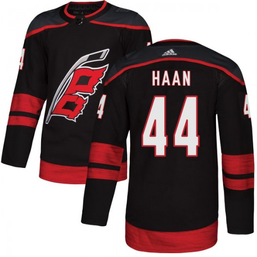 Calvin de Haan Carolina Hurricanes Youth Adidas Authentic Black Alternate Jersey