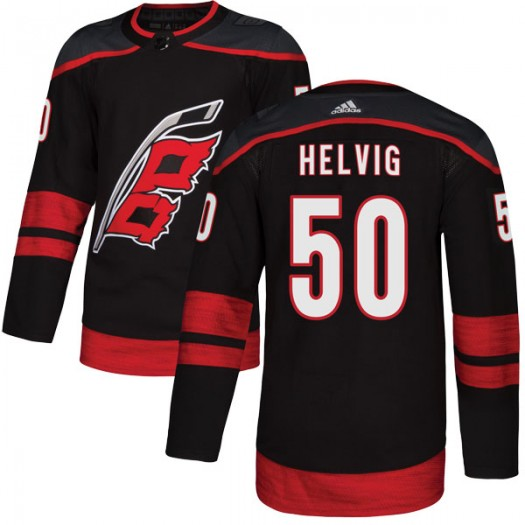 Jeremy Helvig Carolina Hurricanes Youth Adidas Authentic Black Alternate Jersey