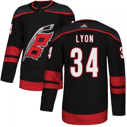 Alex Lyon Carolina Hurricanes Youth Adidas Authentic Black Alternate Jersey