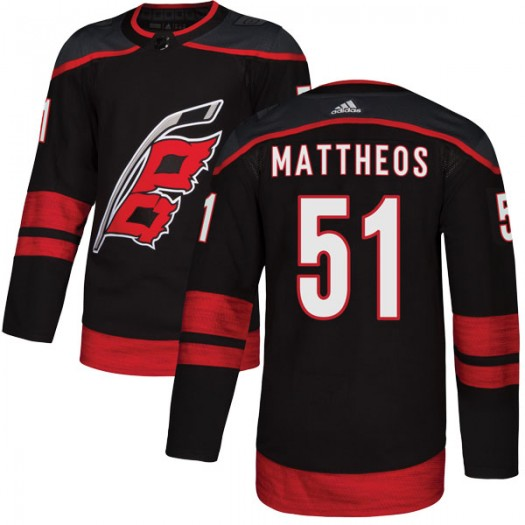 Stelio Mattheos Carolina Hurricanes Youth Adidas Authentic Black Alternate Jersey
