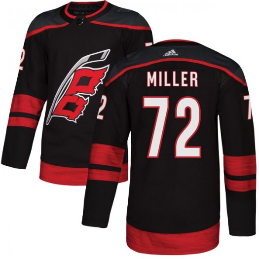 Andrew Miller Carolina Hurricanes Youth Adidas Authentic Black Alternate Jersey