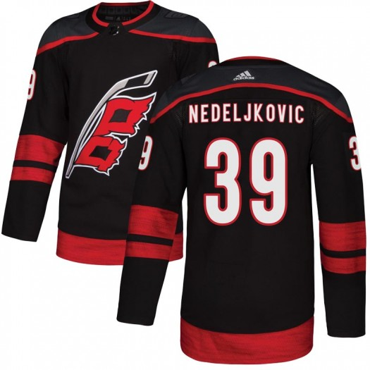 Alex Nedeljkovic Carolina Hurricanes Youth Adidas Authentic Black Alternate Jersey