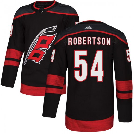 Dennis Robertson Carolina Hurricanes Youth Adidas Authentic Black Alternate Jersey