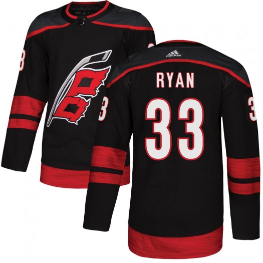 Joakim Ryan Carolina Hurricanes Youth Adidas Authentic Black Alternate Jersey