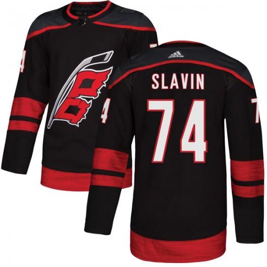 Jaccob Slavin Carolina Hurricanes Youth Adidas Authentic Black Alternate Jersey