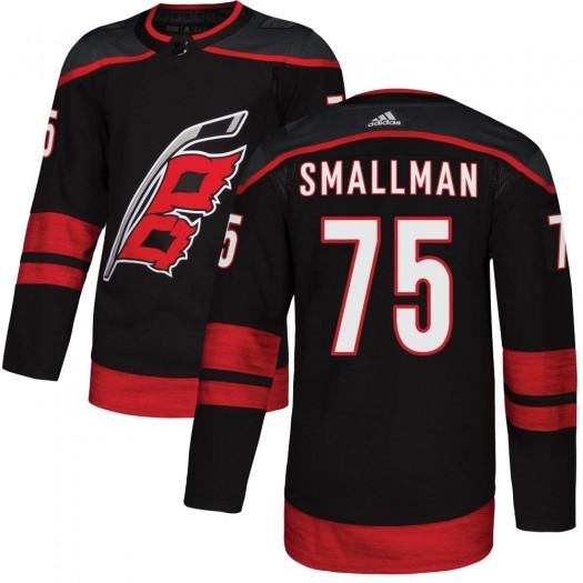 Spencer Smallman Carolina Hurricanes Youth Adidas Authentic Black Alternate Jersey