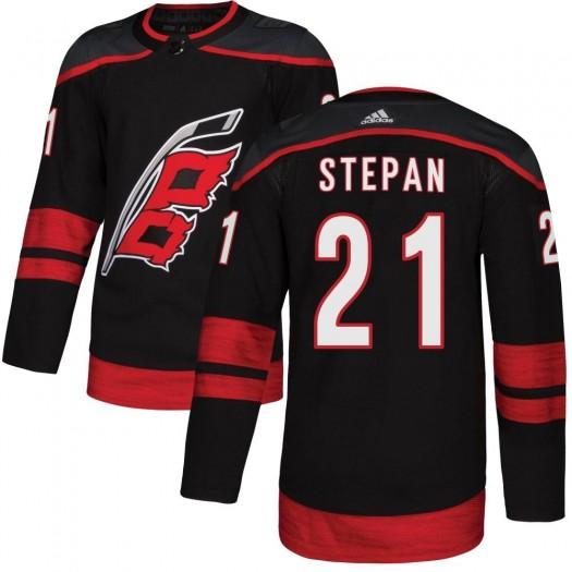 Derek Stepan Carolina Hurricanes Youth Adidas Authentic Black Alternate Jersey