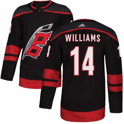 Justin Williams Carolina Hurricanes Youth Adidas Authentic Black Alternate Jersey