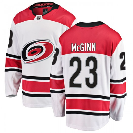 Brock Mcginn Carolina Hurricanes Youth Fanatics Branded White Breakaway Away Jersey