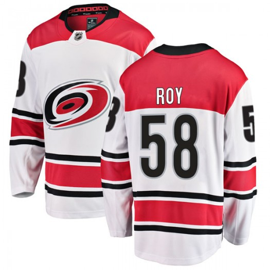 Nicolas Roy Carolina Hurricanes Youth Fanatics Branded White Breakaway Away Jersey