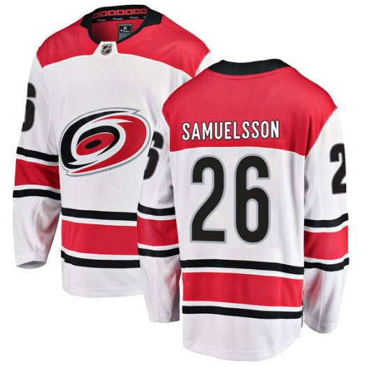 Philip Samuelsson Carolina Hurricanes Youth Fanatics Branded White Breakaway Away Jersey