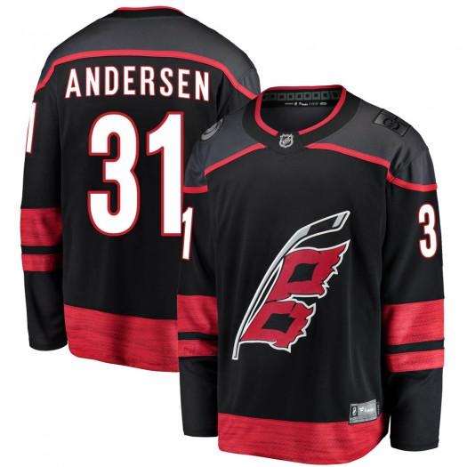 Frederik Andersen Carolina Hurricanes Men's Fanatics Branded Black Breakaway Alternate Jersey