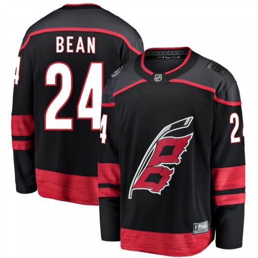 Jake Bean Carolina Hurricanes Men's Fanatics Branded Black Breakaway Alternate Jersey