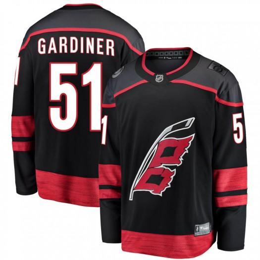 Jake Gardiner Carolina Hurricanes Men's Fanatics Branded Black Breakaway Alternate Jersey