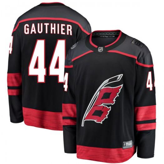 Julien Gauthier Carolina Hurricanes Men's Fanatics Branded Black Breakaway Alternate Jersey