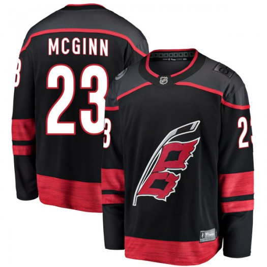 Brock Mcginn Carolina Hurricanes Men's Fanatics Branded Black Breakaway Alternate Jersey