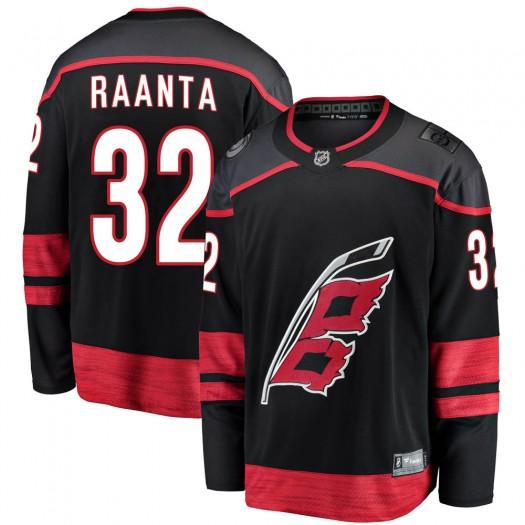 Antti Raanta Carolina Hurricanes Men's Fanatics Branded Black Breakaway Alternate Jersey