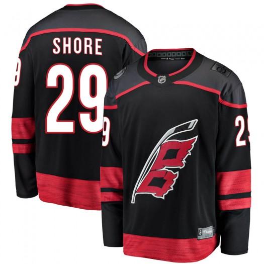 Drew Shore Carolina Hurricanes Men's Fanatics Branded Black Breakaway Alternate Jersey