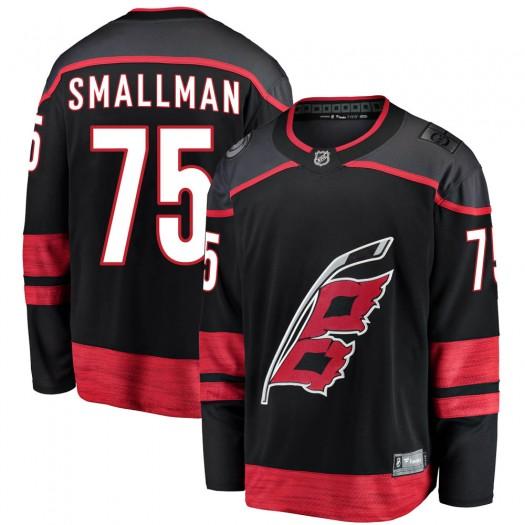 Spencer Smallman Carolina Hurricanes Men's Fanatics Branded Black Breakaway Alternate Jersey