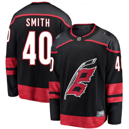 Jeremy Smith Carolina Hurricanes Men's Fanatics Branded Black Breakaway Alternate Jersey