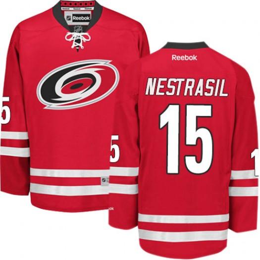 Andrej Nestrasil Carolina Hurricanes Men's Reebok Authentic Red Home Jersey