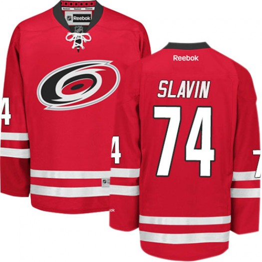 Jaccob Slavin Carolina Hurricanes Men's Reebok Premier Red Home Jersey