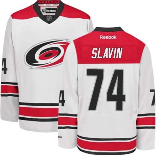 Jaccob Slavin Carolina Hurricanes Men's Reebok Premier White Away Jersey