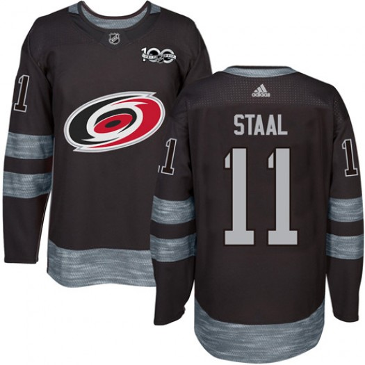 Jordan Staal Carolina Hurricanes Men's Adidas Authentic Black 1917-2017 100th Anniversary Jersey