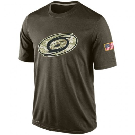 Carolina Hurricanes Men's Nike Olive Salute To Service KO Performance Dri-FIT T-Shirt
