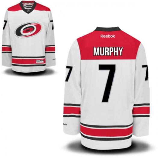 Ryan Murphy Carolina Hurricanes Men's Reebok Replica White New Away Jersey