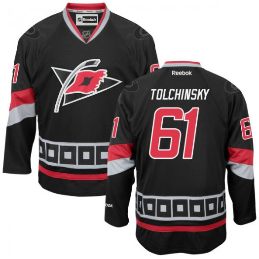 Sergei Tolchinsky Carolina Hurricanes Men's Reebok Premier Black Alternate Jersey