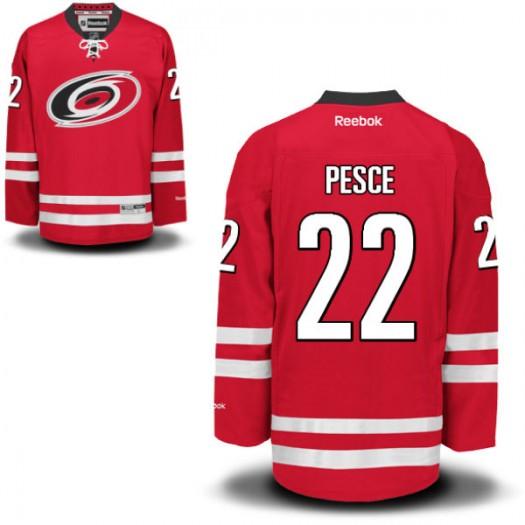 Brett Pesce Carolina Hurricanes Men's Reebok Authentic Red Home Jersey