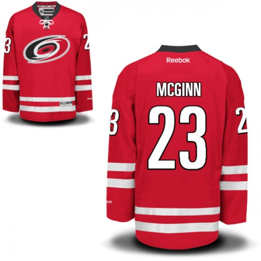 Brock Mcginn Carolina Hurricanes Men's Reebok Authentic Red Home Jersey
